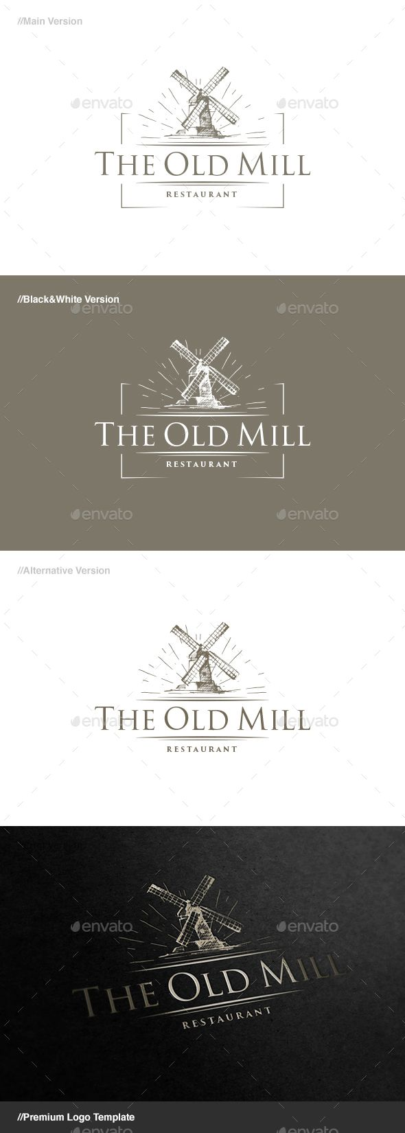 The Old Mill Logo Template Vector EPS, AI. Download here: http://graphicriver.net/item/the-old-mill-logo/15186110?ref=ksioks