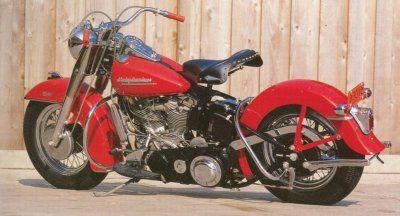 Ben's vintage 1950 Harley Davidson