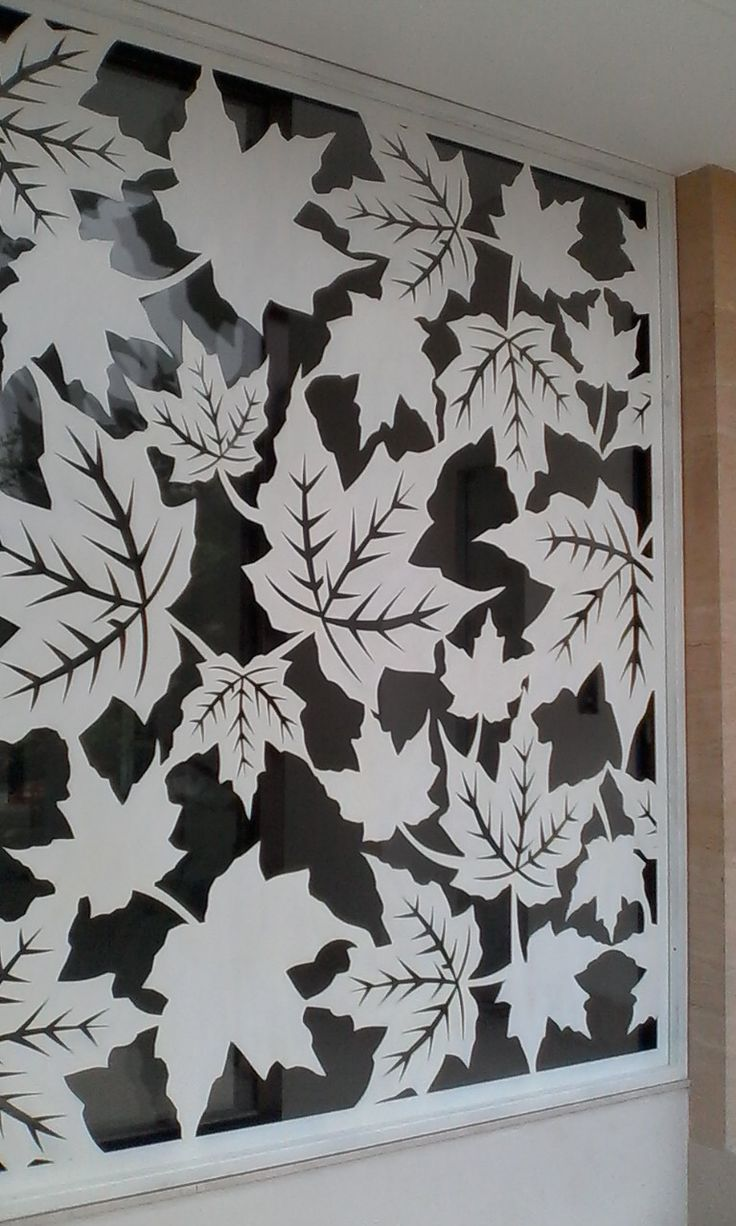 Window Leaf Laser Cut Material: steel 5mm Location: Roxy, Jakarta Incl installation