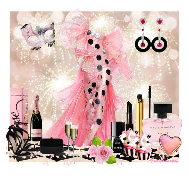Valentine's Day in Carnival by fiordiluna on Polyvore featuring moda, Carvela, Rocio, Too Faced Cosmetics, Yves Saint Laurent, NYX, Kylie Minogue, Chanel, Moschino and Gap