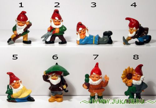 Auswahl Die neuen Blumentopfzwerge 1989 Einzelfiguren 1989