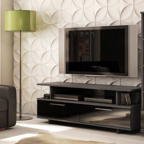 South Shore Furniture Reflekt Collection, TV Stand, Gray, Oak:Amazon