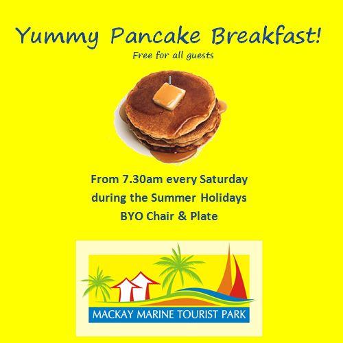 Here's something you might like to hear! #big4mackaymarine #pancakes #free #breakfast