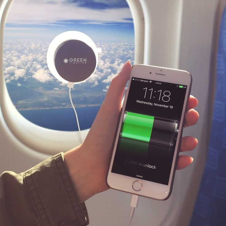 GreenLighting Solar Phone Charger - 2000mAh Window Cling Power Bank. Great gift product for travels, android, iPhone and gadget users #wireless #bluetooth #smartphone