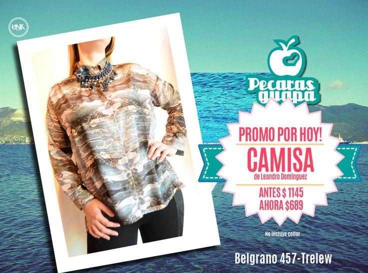 Camisa de Leandro Dominguez. En liquidación Otoño! #Trelew #Pecarasguapa #otoño #liquidacion #abrigo #tendencias #2015 #UnaStudio
