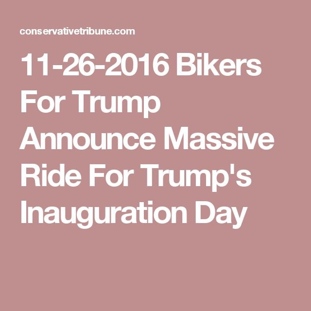11-26-2016 Bikers For Trump Announce Massive Ride For Trump's Inauguration Day