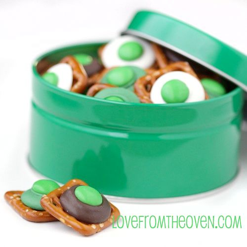Quick And Easy Chocolate Pretzel Bites Recipe - A Sweet St. Patty's Snack