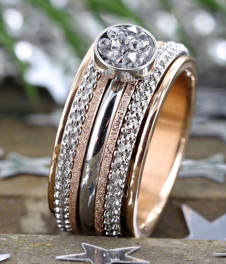 Prachtige iXXXi ring met Rose en Zilver, eindeloos wisselen en combineren!