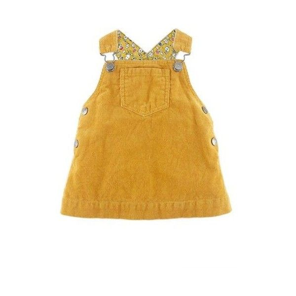 Mini Boden Dungaree Corduroy Dress (Baby Girls) ❤ liked on Polyvore featuring baby clothes