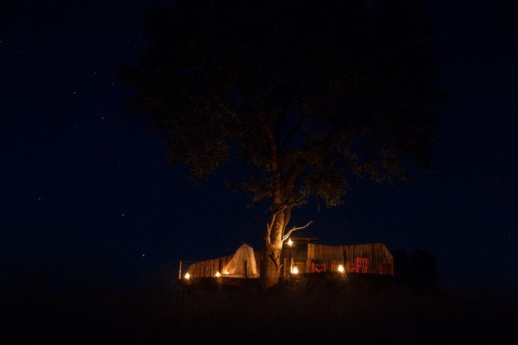 Scott's Pan sleep-out platform and hide officially opens! #Hwange #Zimbabwe #safari