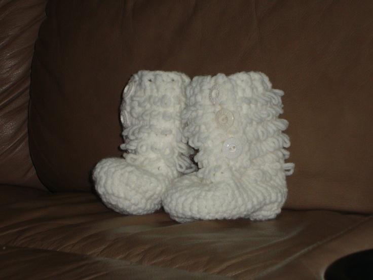 Furrylicious Baby Booties  $10