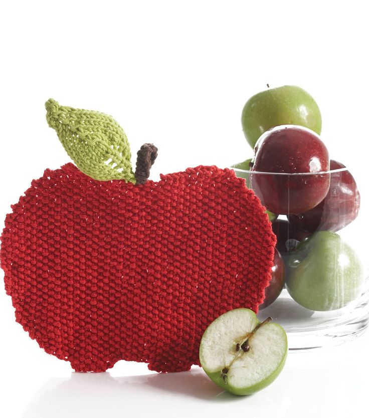 Make your teacher an apple dish cloth for the 1st day of school!: Knits Crochet, Dishcloth Free, Knits Patterns, Dishes Clothing, Apples Dishcloth, Crochet Patterns, Dishcloth Knits, Knits Dishcloth, Bernat Handicraft