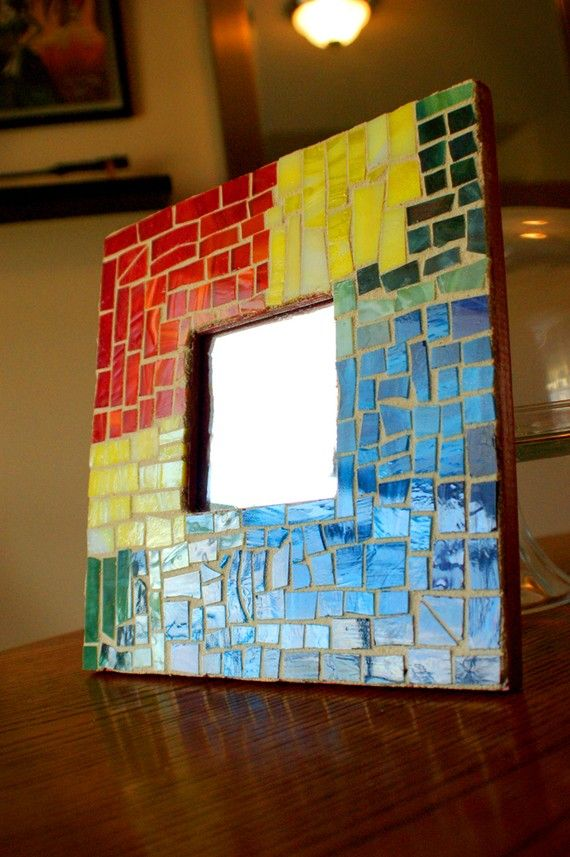 Spring Rainbow Mirror Mosaic by krjanssen on Etsy