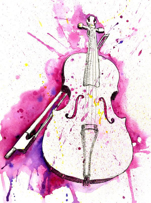 Watercolor Instruments By Jonathan Meyer Via Behance