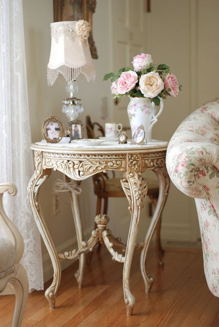 Love this antique table.
