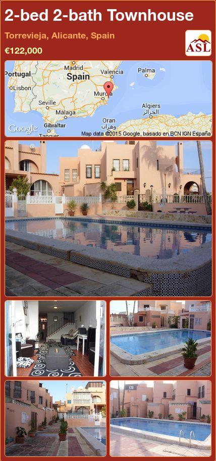 2-bed 2-bath Townhouse in Torrevieja, Alicante, Spain ►€122,000 #PropertyForSaleInSpain