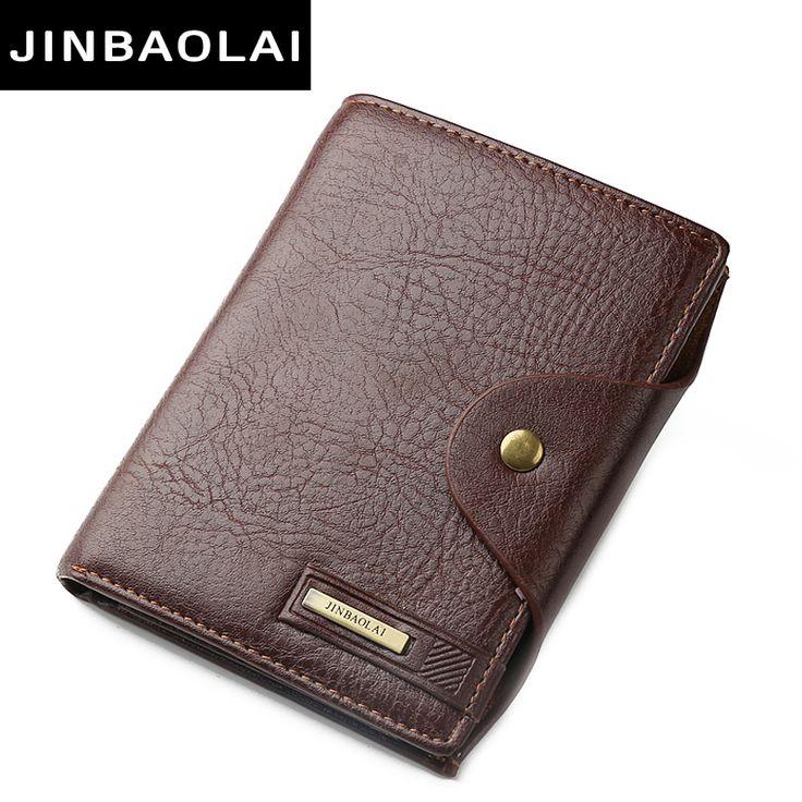 Men Wallet PU Leather Portfolio 2016 Famous Brand JINBAOLAI Male Passport Holder Bag Money Pocket Large Capacity Coin Purses Men