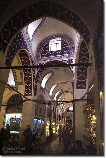 The Grand Bazaar in Istanbul. One of the largest covered markets in the world. 58 streets and 4,000 shops.