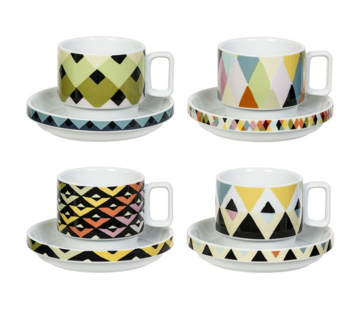 Viva set of Two Cups and Saucers