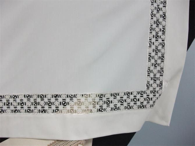 10504-Fabric, Openwork Edge Antep Square Tablecloths-Orhangazi Volunteer Evi-