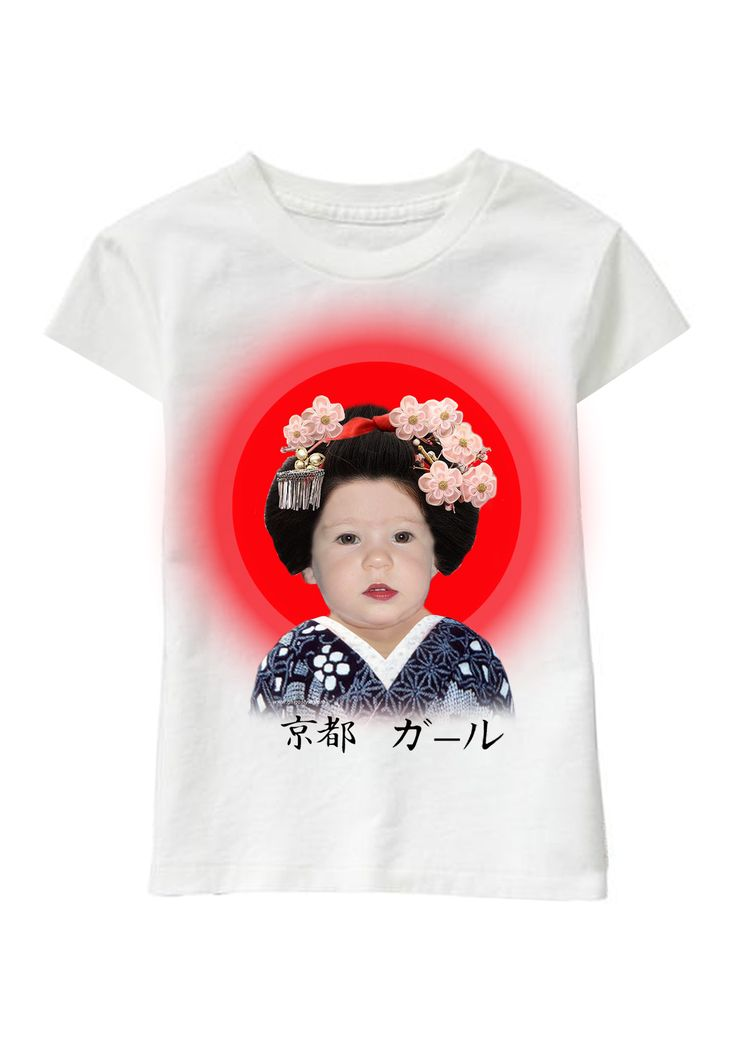 Geisha personalized T-shirt www.ghigostyle.com