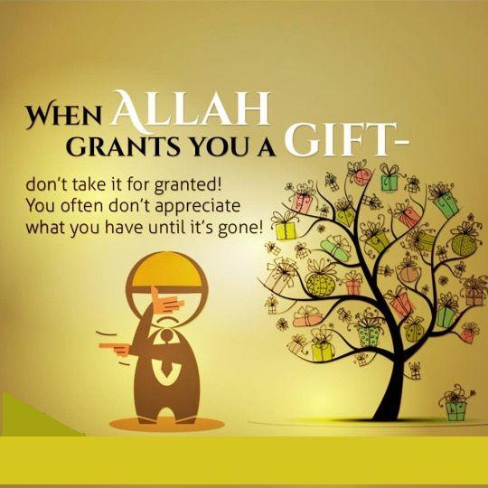 When Allah grants you a gift