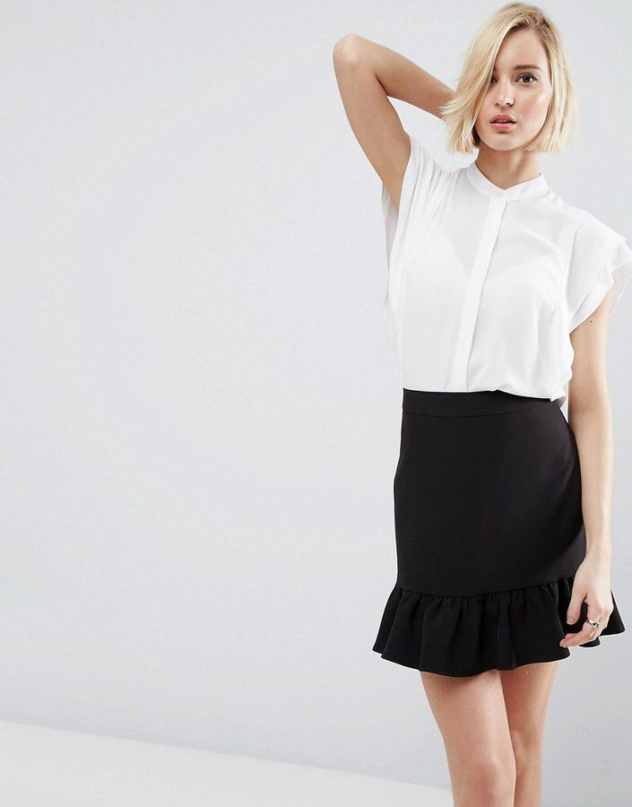 Asos Blouse With Frill Shoulder (Affiliate link) #womensworkwear