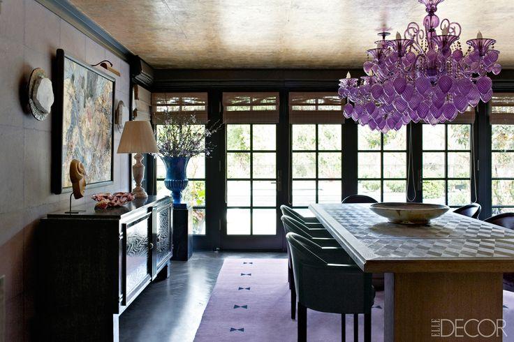 Kelly Wearstler Design - Midcentury Modern Interiors - ELLE DECOR, Venetian Chandeliers