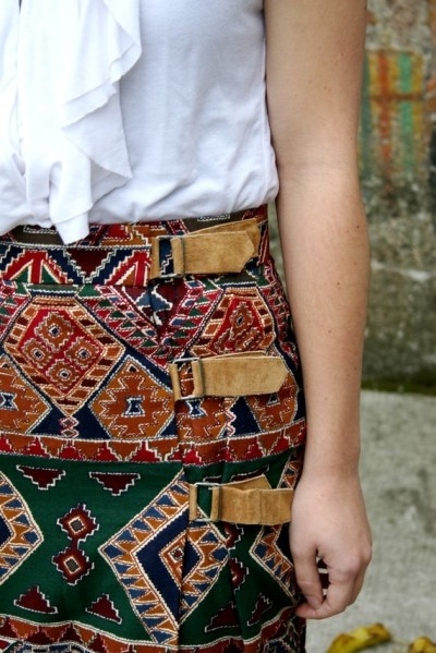 Would love this skirt in another print, but looooove the buckles!