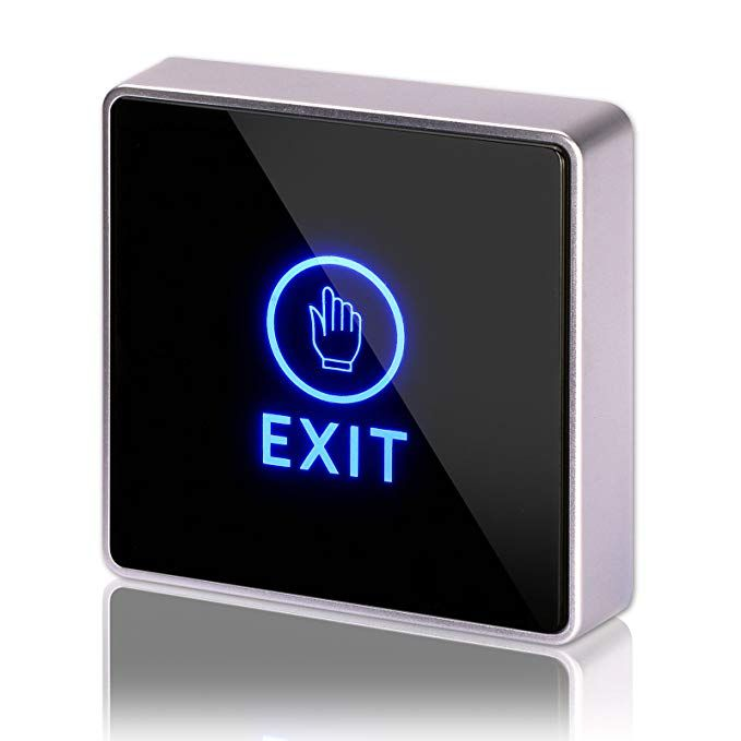 Dc 12v Nc No Square Zoter Touch Sensor Door Exit Release Button Switch W Led Light Review Led Led Lights Home Security Systems