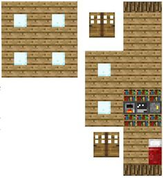 Papercraft Minecraft And House On Pinterest