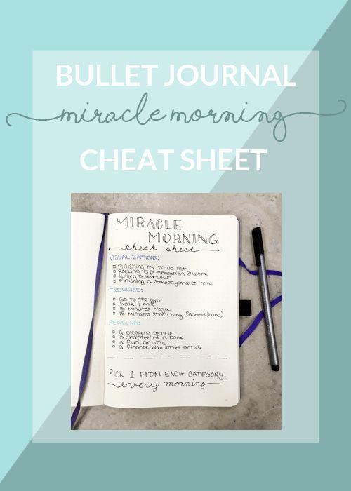 Miracle Morning Cheat Sheet