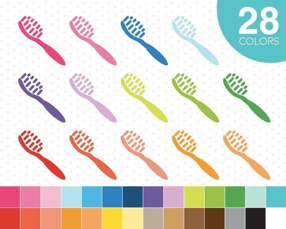Toothbrush clipart Tooth brush clipart Dental by JSdigitalpaper