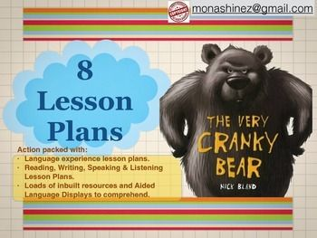 Very Cranky Bear Lesson Plans