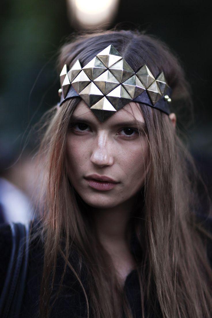 studded headpiece - halloween costume
