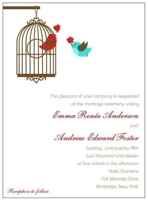 43 best sarah lovebird wedding invites images on pinterest, Wedding invitations