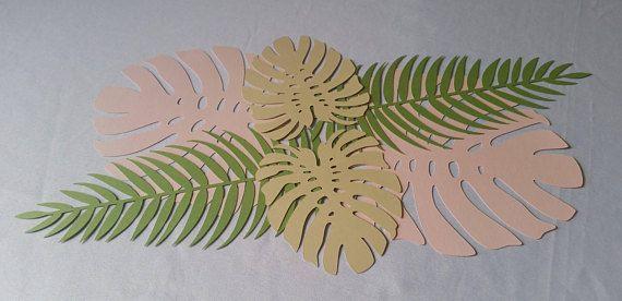 Tropical Leaves Set Tropical Leaves Runner Tropical Leaves