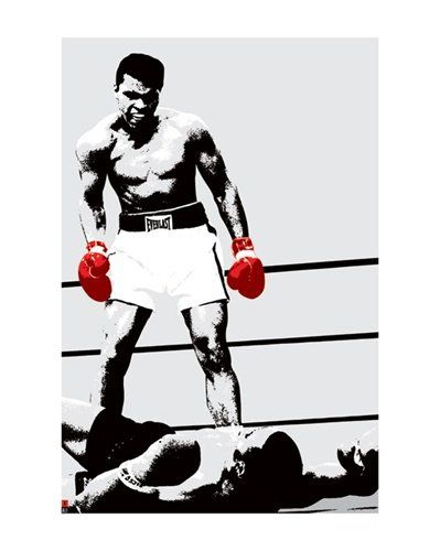 Muhammad Ali Pop Art Knockout Boxing Sports Poster 16 x 20 inches, By Imaginus Posters // $8.95 Features: - Art Print produced on heavy paper stock, using the highest printing standards! - Condition: Brand New - Size: 16 x 20 inches (without border: 11 x 17 inches) - This poster will be rolled securely in a sturdy cardboard tube.- >>Get Inspired! - Visit http://artcaffeine.imobileappsys.com