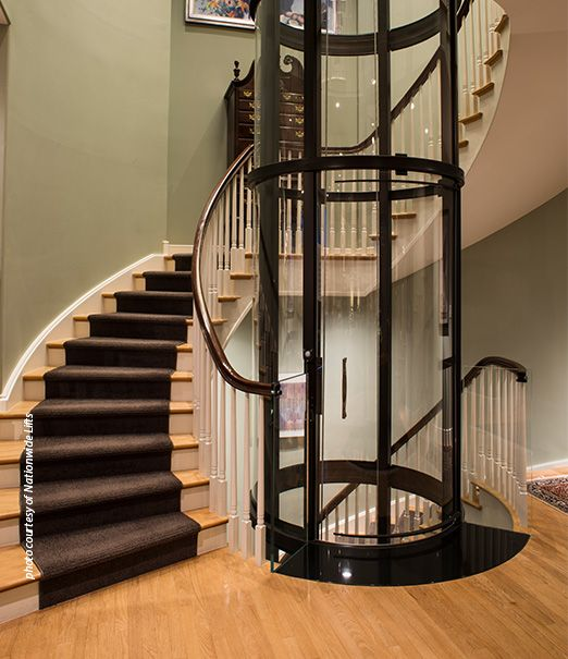 Glass Home Elevator For Homes In The Suburbs And City Of Chicago Homeleevator Glasselevator Chicago Luxury Stairs Design House Elevation Elevator Design