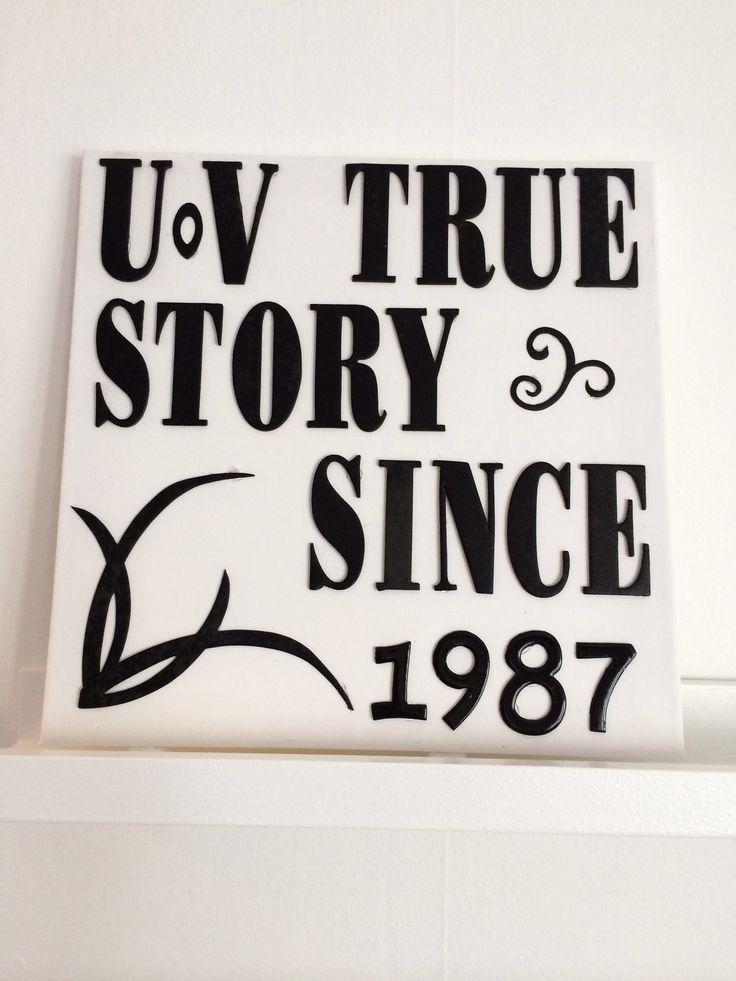 Jag och maken träffades 1987. U o V står för Ulf och Veronica.