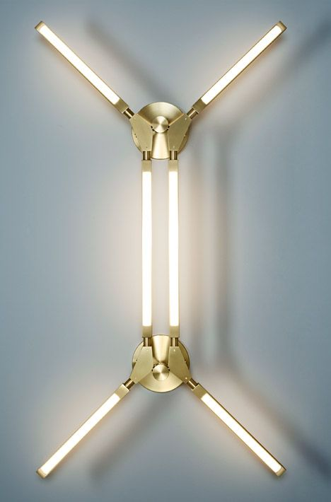 pelle unveils stick style lighting that can take multiple forms - Wall Lamps Design