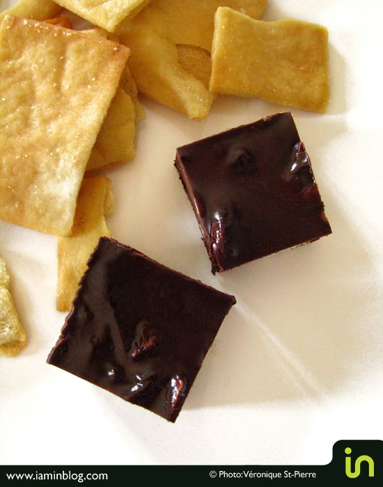 Fudge aux arachides et croustilles de pita In Snax  Photo & recette Véronique St-Pierre