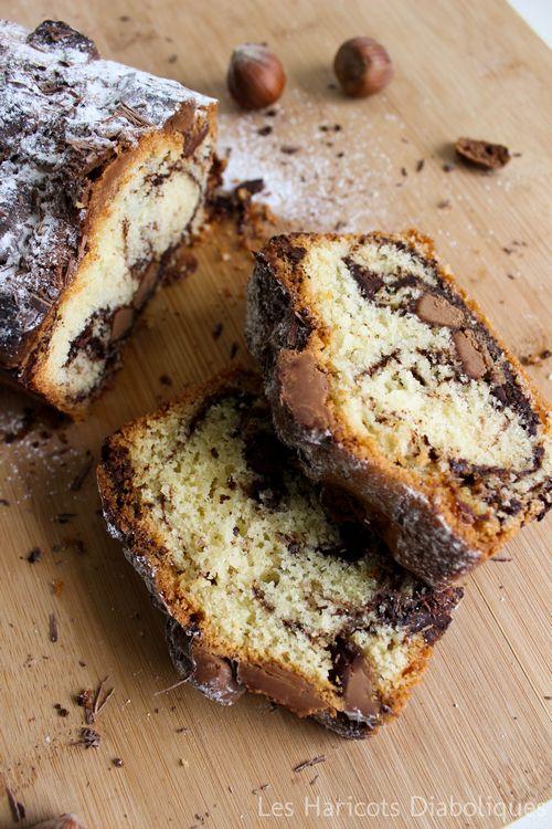 Cake Marbré Amande, Chocolat et Pralinoise...♡