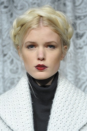 Deep Burgundy Lip Spotted at Alice+Olivia