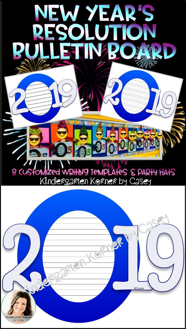 ring in the new year in 2019 by having your students write about their new years resolution choose from 8 templates to accommodate writers in kindergarten