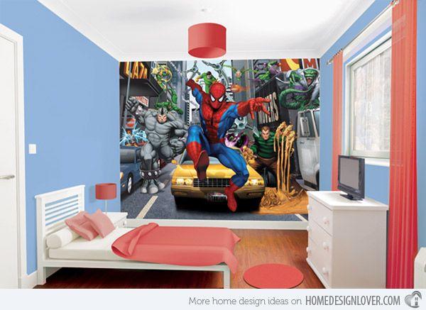 Lego Themed Bedroom Wall Murals | 15 Boys Themed Bedroom Designs | Home Design Lover
