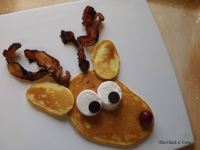 The Chick n' Coop: Rudolph the Red Nosed Reindeer Pancakes