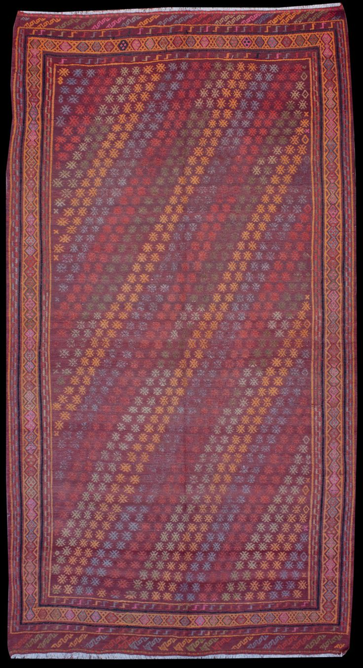 Anatolian Konya Jijim Kilim  346 x 183 cm