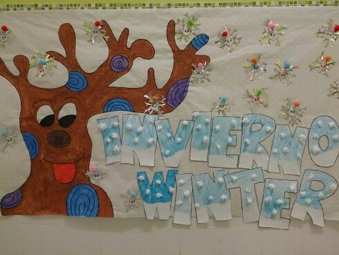 Mural Invierno Manualidades Guarder 237 A Pinterest Murals
