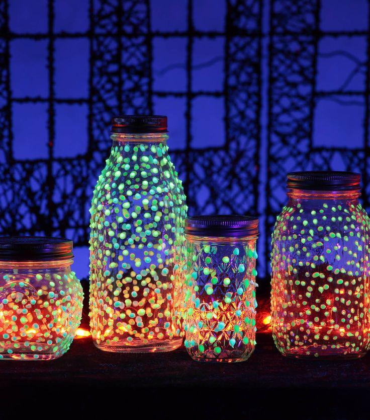 Mason Jar Night Light Glow Sticks